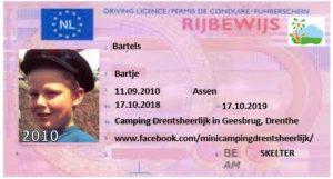 Skelterrijbewijs op Drentsheerlijk - kindvriendelijke minicamping in Drenthe