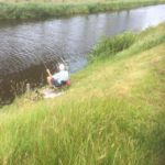 Vissen op minicamping Drenthe